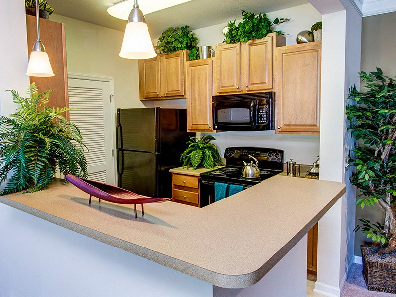 New Countertops and Cabinets at Abberly Place at White Oak Crossing by HHHunt, North Carolina