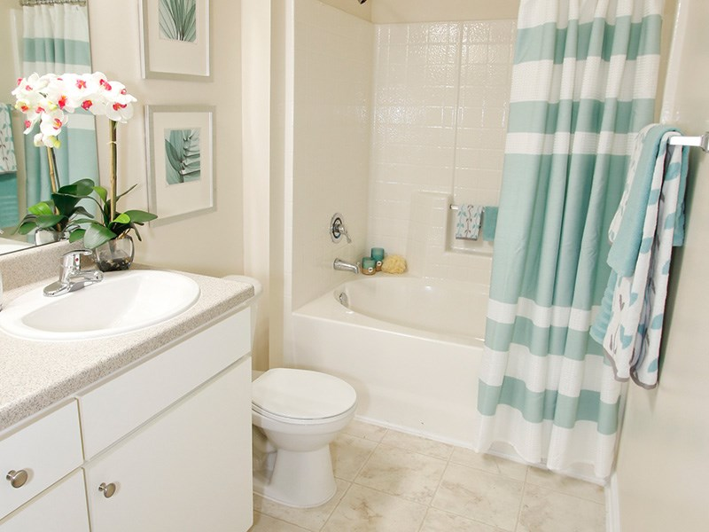 Feature upgraded bathrooms at Abberly Place at White Oak Crossing by HHHunt,  Garner North Carolina