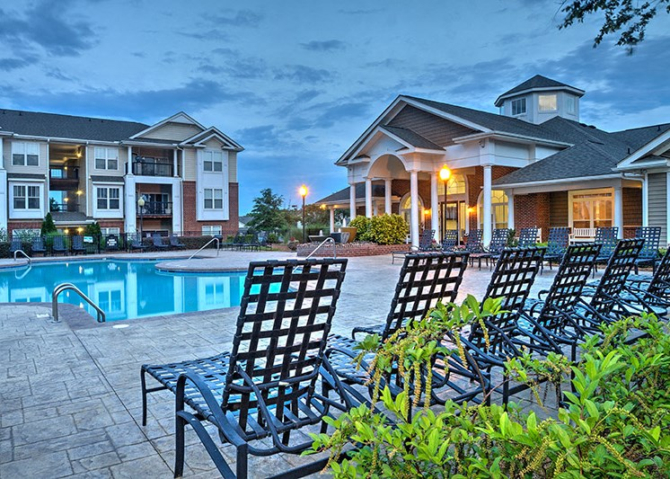 Refreshing pool with spacious sundeck and a city view at Abberly Woods Apartment Homes, North Carolina, 28216