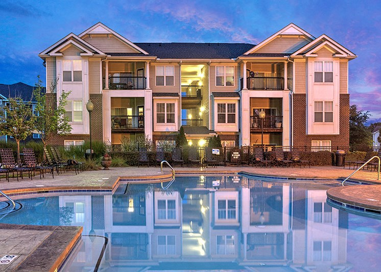 Relaxing Swimming Pool at Abberly Woods Apartment Homes by HHHunt, Charlotte, NC 28216