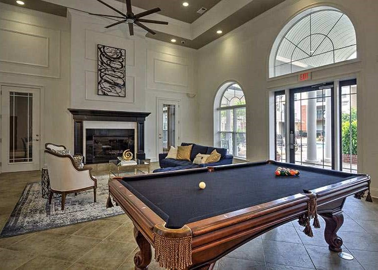Come play with us in our spacious game room at Abberly Woods Apartment Homes by HHHunt, Charlotte, NC 28216