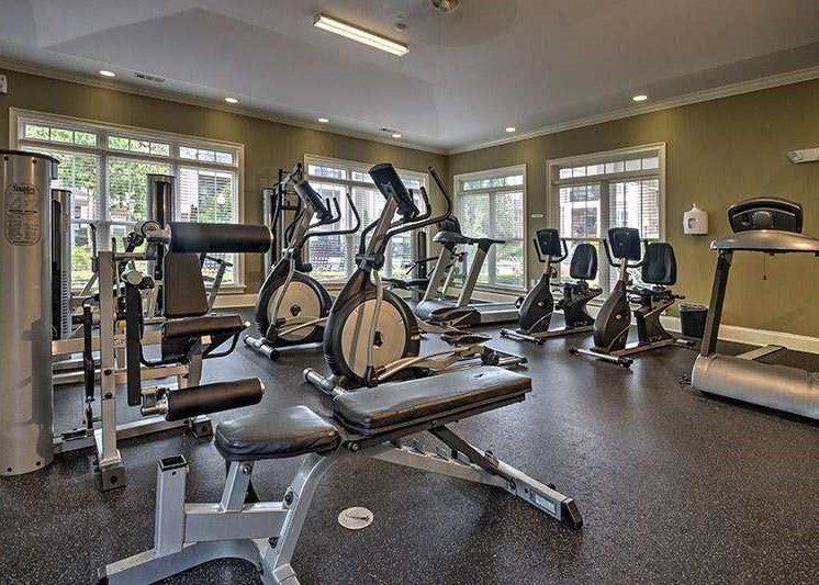 24-hour fitness center at Abberly Woods Apartment Homes, Charlotte, 28216
