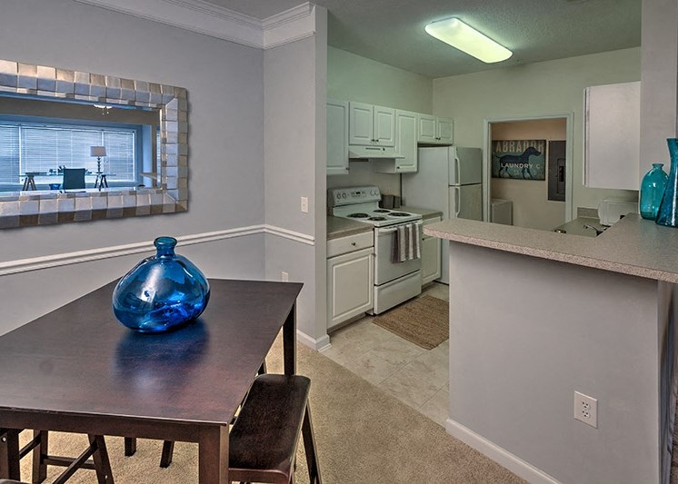Custom kitchens with two color schemes to choose from at Abberly Woods Apartment Homes, Charlotte, NC 28216