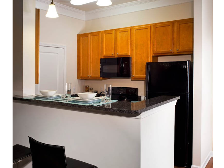 Elegant eat-in kitchen at Abberly Crest Apartment Homes, Lexington Park, Maryland