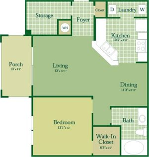 Floorplan for Avery at Abberly Green Apartment Homes, Mooresville, NC 28117