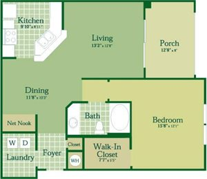 Floorplan for Boden II at Abberly Green Apartment Homes, Mooresville, NC