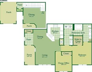 Floorplan for Clancy at Abberly Green Apartment Homes, Mooresville, NC