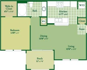 Floorplan for Dalmore at Abberly Green Apartment Homes, Mooresville, NC