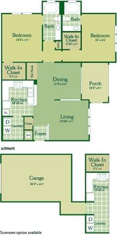 Floorplan for Elliot at Abberly Green Apartment Homes, Mooresville North Carolina