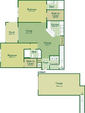 Floorplan for Hyland at Abberly Green Apartment Homes, Full State, 28117