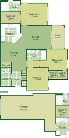 Floorplan for Ryan at Abberly Green Apartment Homes, Mooresville