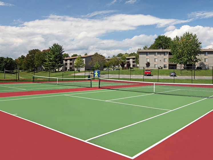 Lighted Tennis Court at Foxridge Apartment Homes by HHHunt, Blacksburg, VA