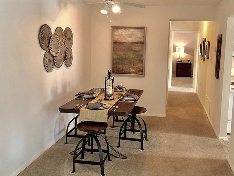 Separate Designed Dining Space at Walden Pond Apartment Homes, Virginia, 24501