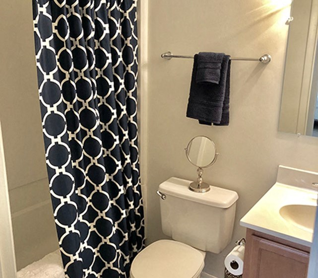 Stand Up Shower Stalls at Walden Pond Apartment Homes, Lynchburg, Virginia