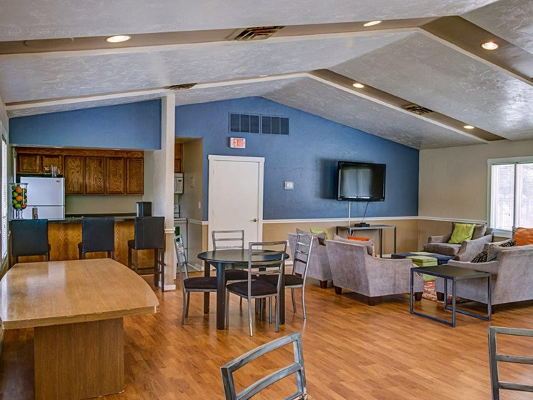 Social Room for Private Parties at Walden Pond Apartment Homes by HHHunt, Lynchburg