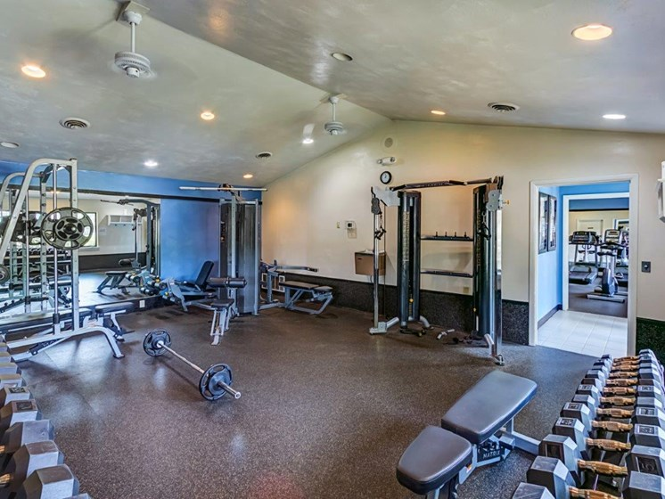 Gym With Modern Equipment at Walden Pond Apartment Homes by HHHunt, Lynchburg, VA