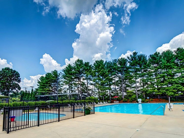 Turquoise Swimming Pool at Walden Pond Apartment Homes, Virginia, 24501