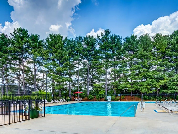 Outdoor Swimming Pool at Walden Pond Apartment Homes, Lynchburg, VA
