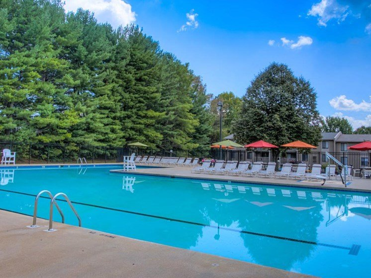 Glimmering Pool at Walden Pond Apartment Homes by HHHunt, Lynchburg, 24501
