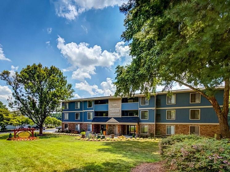 Sun-Kissed Courtyard Garden at Walden Pond Apartment Homes by HHHunt, Lynchburg, VA, 24501