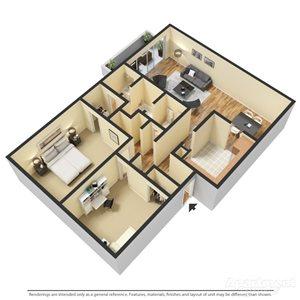 2 Bedroom |1.5 Bath
