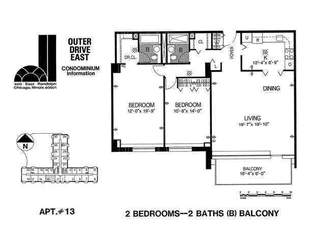 Tier 13 Floor Plan 13