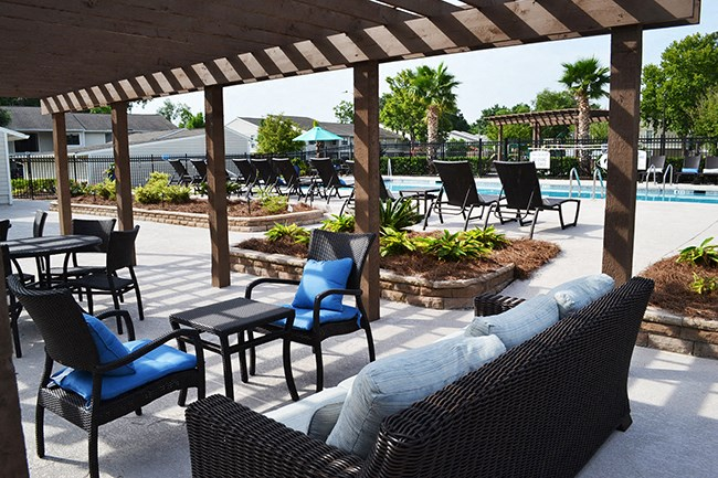 Pool Cabana & Outdoor Entertainment Bar  at Sterling Bluff Apartments, Savannah, GA,31406