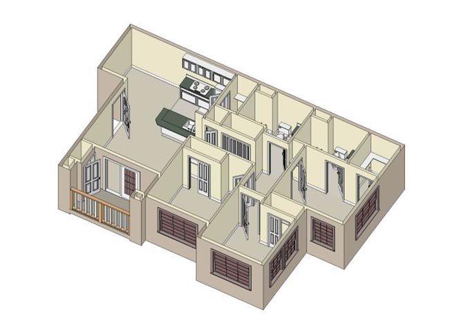 3x2 Floor Plan 2