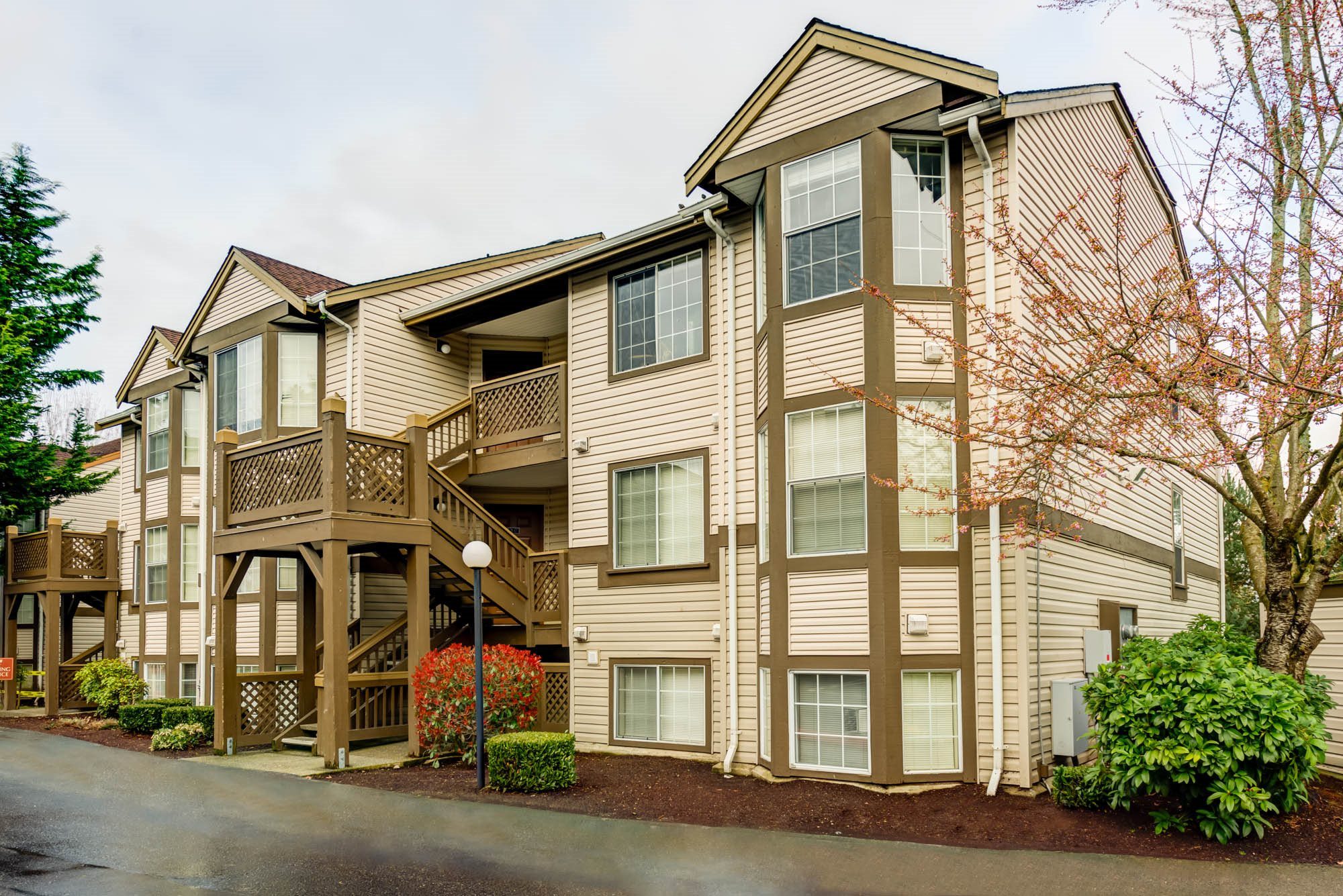 Renovated Building at Westview Village, Renton, WA,98055