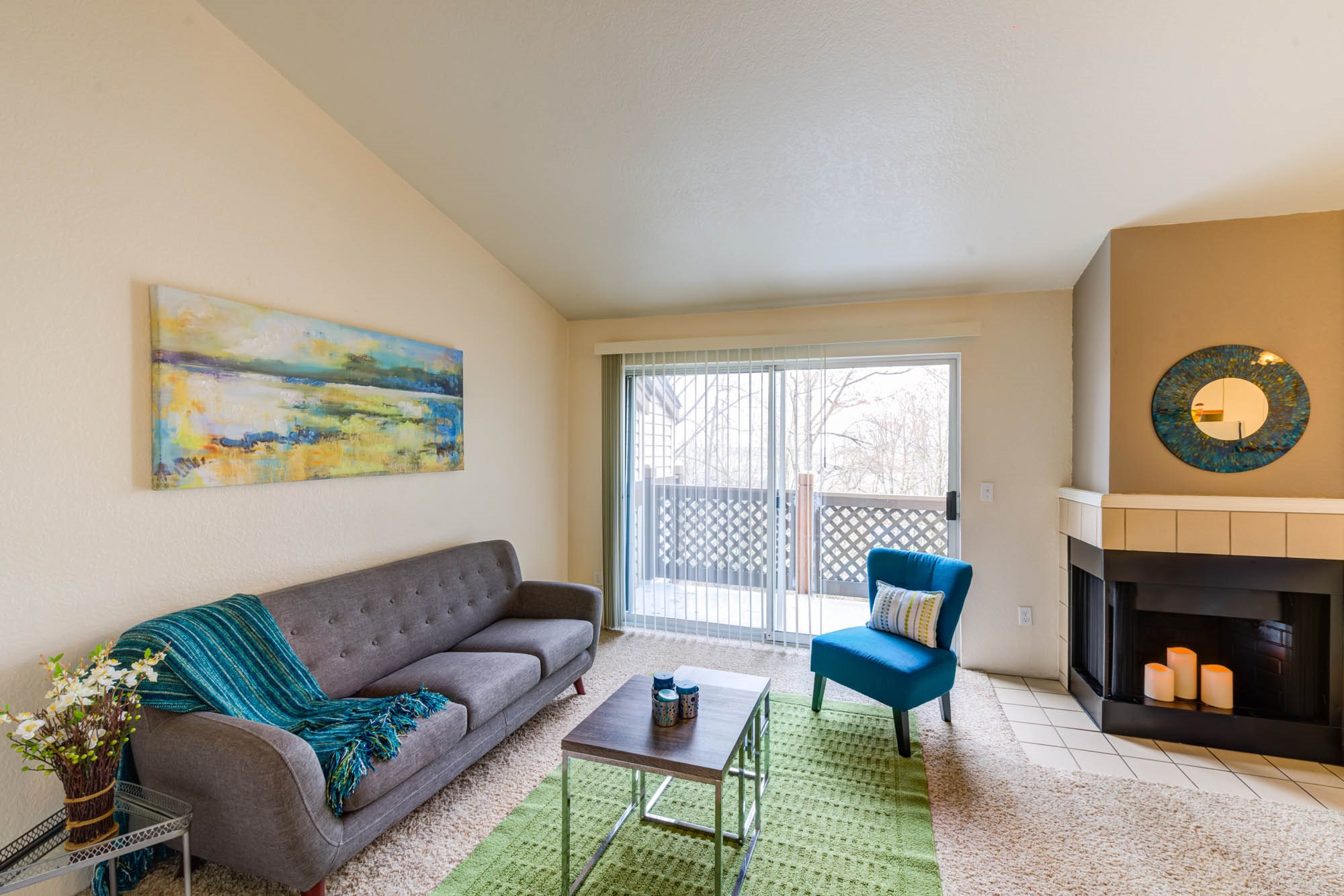 Wood-Burning Fireplaces at Westview Village, Renton, WA,98055