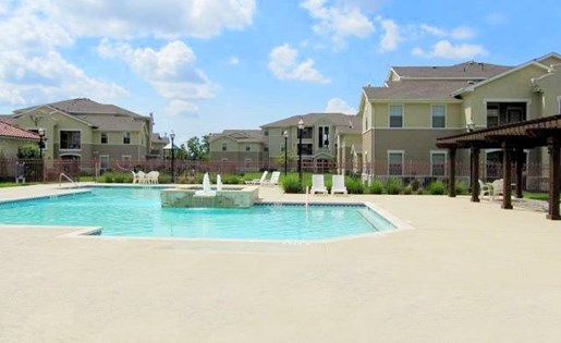 Poolside Relaxing Area at Rosemont at Baytown, Baytown, 77521