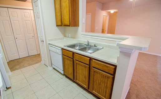 Double Stainless Steel Sink at Primrose of Pasadena - Active Senior Living, Pasadena, TX, 77503