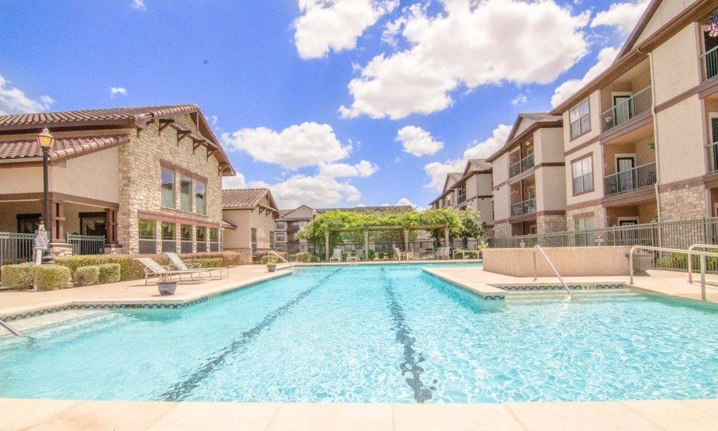 Sparkling Swimming Pool at Primrose of Pasadena - Active Senior Living, Pasadena, Texas