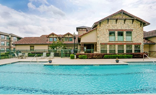 Poolside Lounge and Entertainment Bar at Primrose of Pasadena - Active Senior Living, Texas, 77503