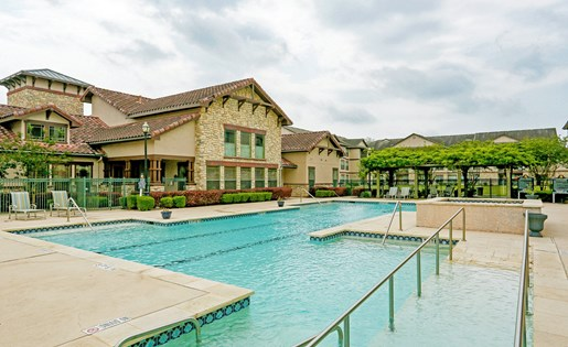 Shimmering Swimming Pool at Primrose of Pasadena - Active Senior Living, Pasadena, TX