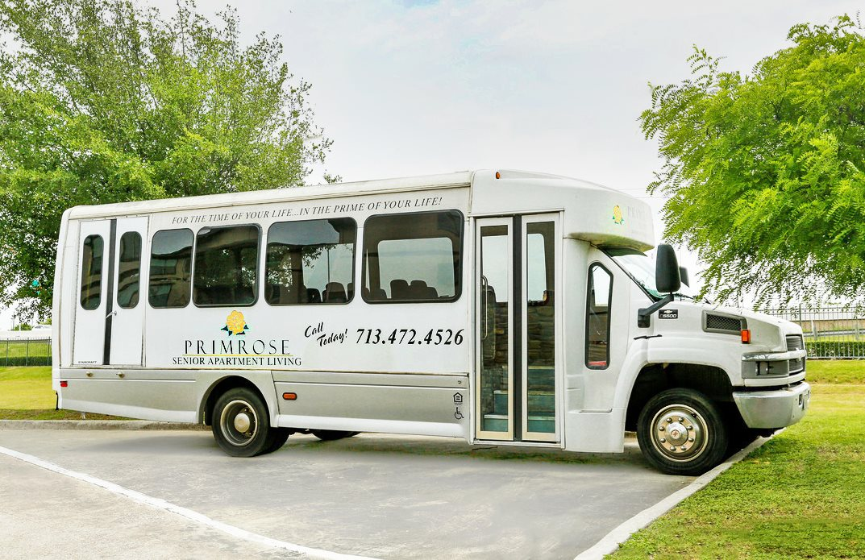 Resident Bus Services at Primrose of Pasadena - Active Senior Living, Texas