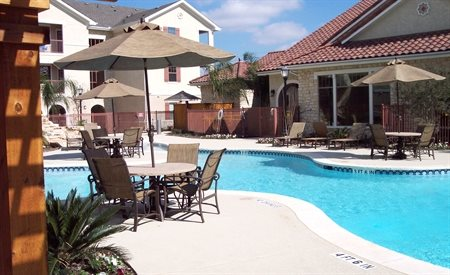 River Style Pool at Primrose Casa Bella - Active Senior Living, Houston, TX, 77022