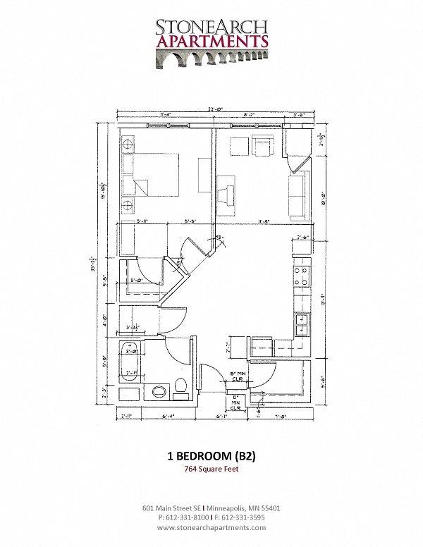 1x1 Floor Plan 9