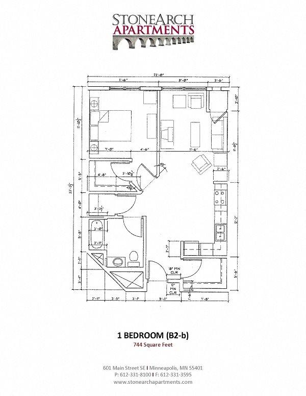 1x1 Floor Plan 10