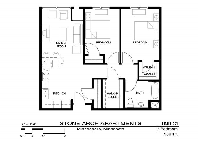 2x1 Floor Plan 13
