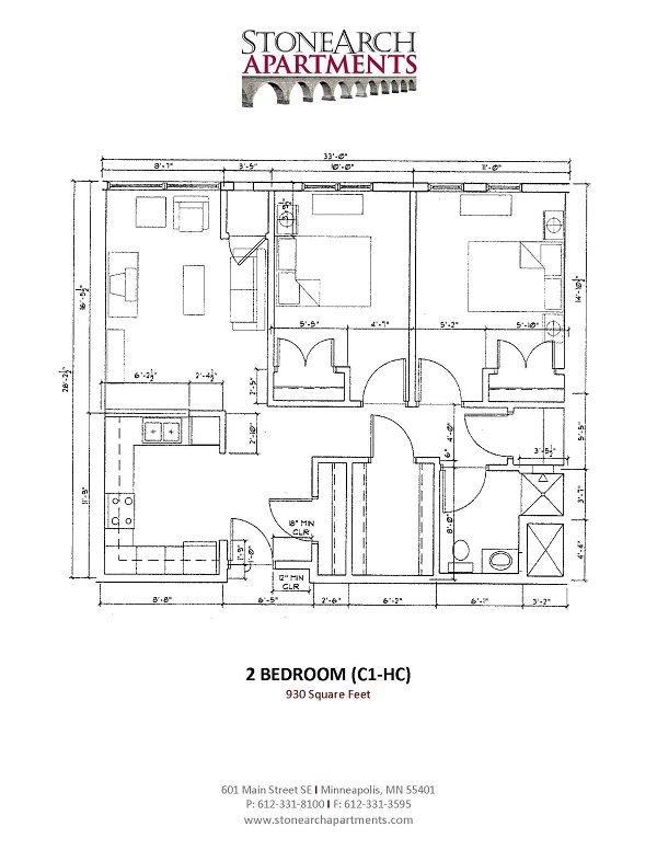 2x1 Floor Plan 16