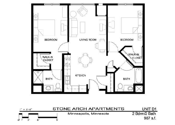 2x2 Floor Plan 22