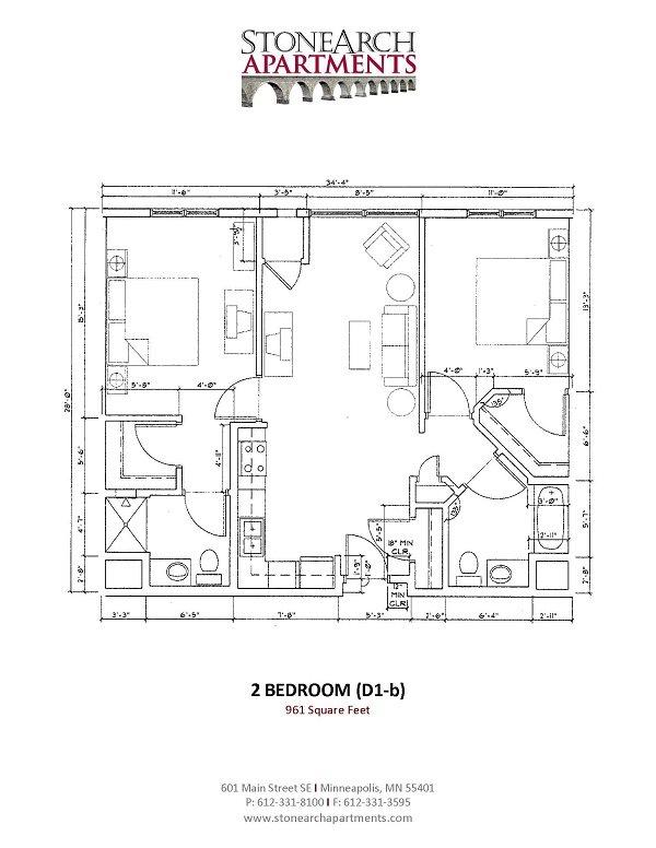 2x2 Floor Plan 23