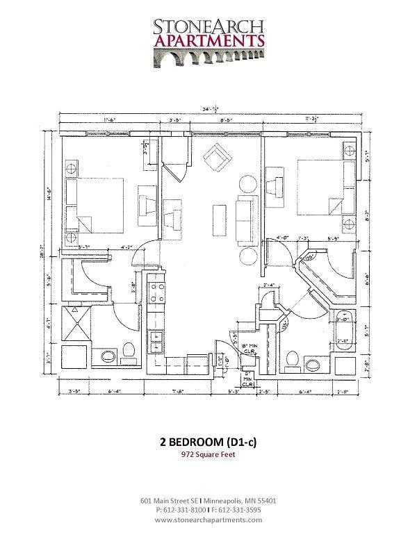 2x2 Floor Plan 24