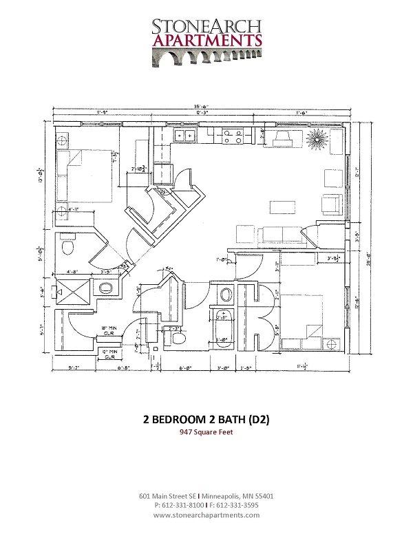 2x2 Floor Plan 25