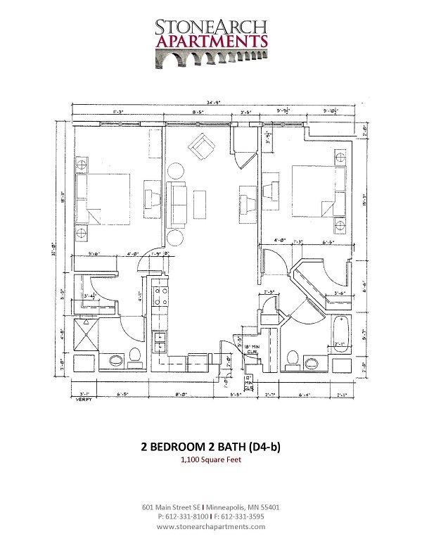 2x2 Floor Plan 26