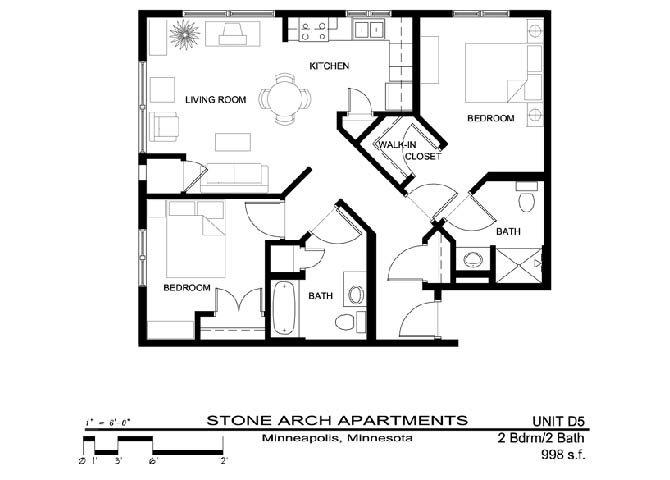 2x2 Floor Plan 27