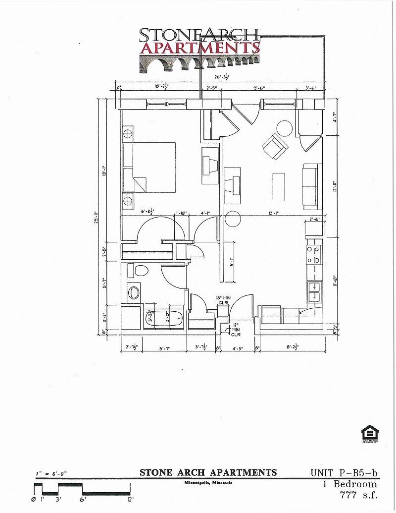 1x1 Floor Plan 30