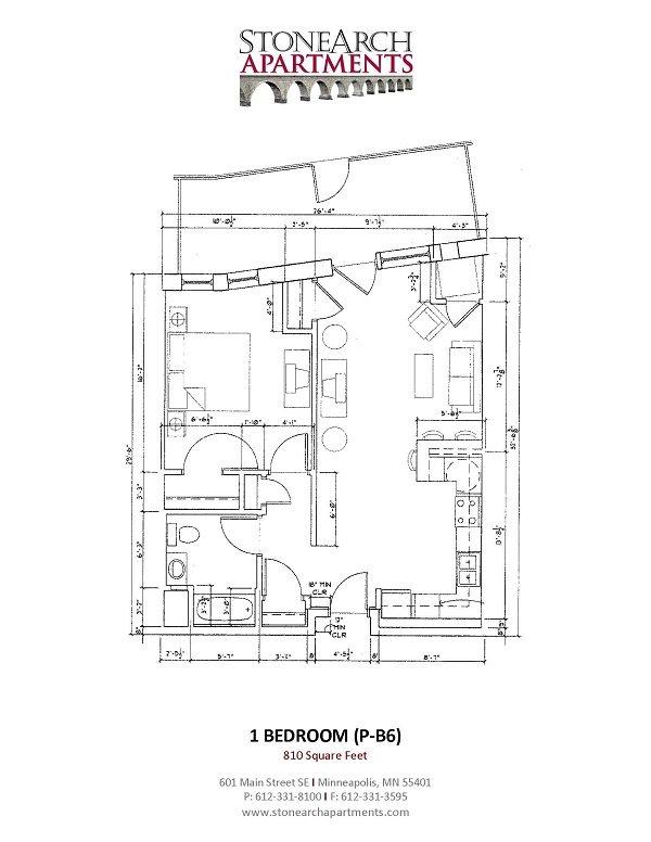 1x1 Floor Plan 31