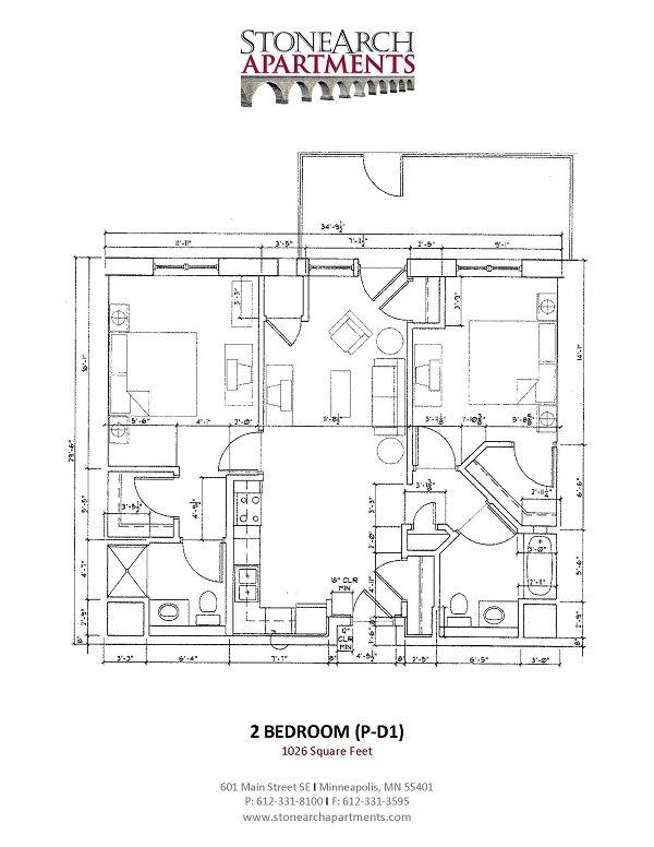 2x2 Floor Plan 34